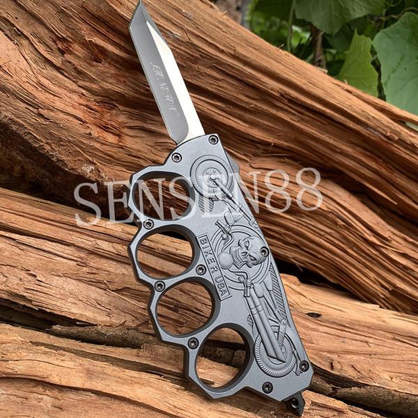 Coltello tattico in lega di zinco automatico in rilievo di zinco originale 440C Coltelli da campeggio pesca all'aperto Coltelli multifunton a mano edc