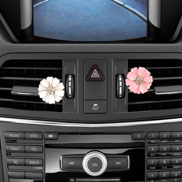 Forma Flor Car-styling sólida Fragrance Car Air Freshener Acessórios Interior Auto saída perfumado Clipe Perfume