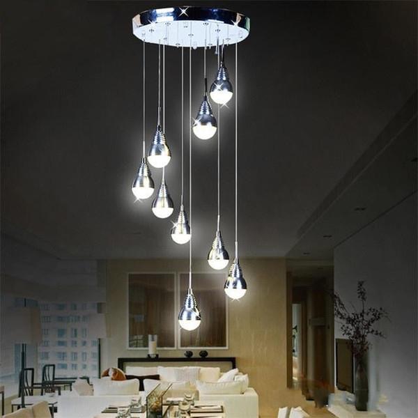 Watt Replaceable LED Bulb Pendant Light Meteor Rain Meteoric Shower Stair Bar Droplight LED Lamp AC Lighting