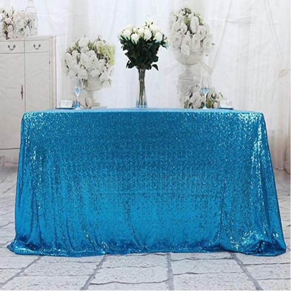 Mesa De Pastel Para Baby Shower.Compre 50 X80 Mantel De Lentejuelas Azul Claro Pano De Mesa Para Bodas Lentejuelas De Lentejuelas Sparkle Lentejuelas Mantel De Pastel Fiesta