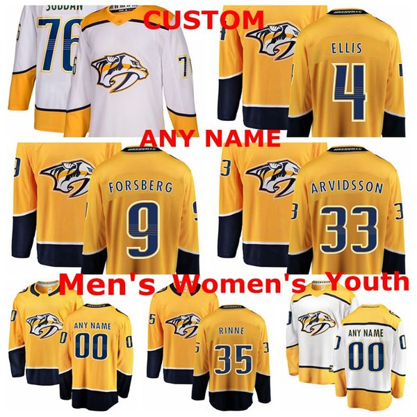 new arrival 3fba0 661d0 2019 Nashville Predators Jerseys PK Subban Jersey Pekka Rinne Viktor  Arvidsson Ryan Ellis Filip Forsberg Ice Hockey Jerseys Custom Stitched From  ...