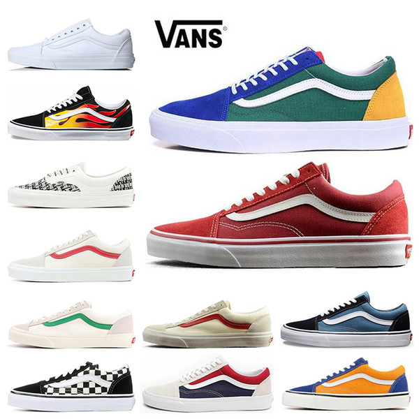 2019 VANS Fear of God Old Skool Authentic Canvas Skate Shoes Mens Women Casual Shoes Running Shoes Trainer Sports Sneakers EUR 36-44