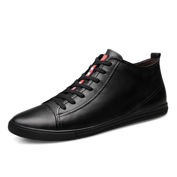 Scarpe da uomo da esterno in velluto Comode scarpe da uomo in vera pelle allacciate alla moda da uomo Scarpe da tennis da passeggio da viaggio all'aperto