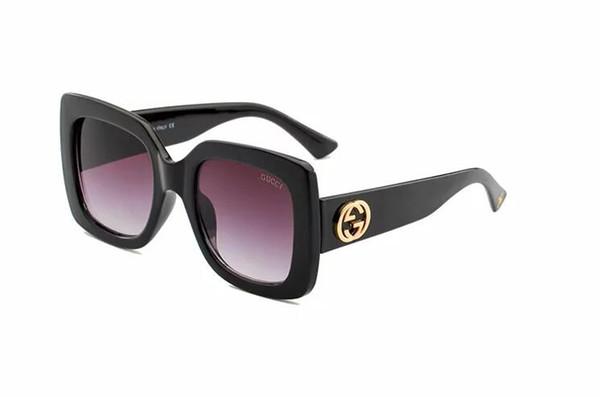 2019 Alta qualidade l mulheres marca designer óculos de sol Nova moda Óculos de Sol Metade Quadro Polaroid UV400 lente 0083
