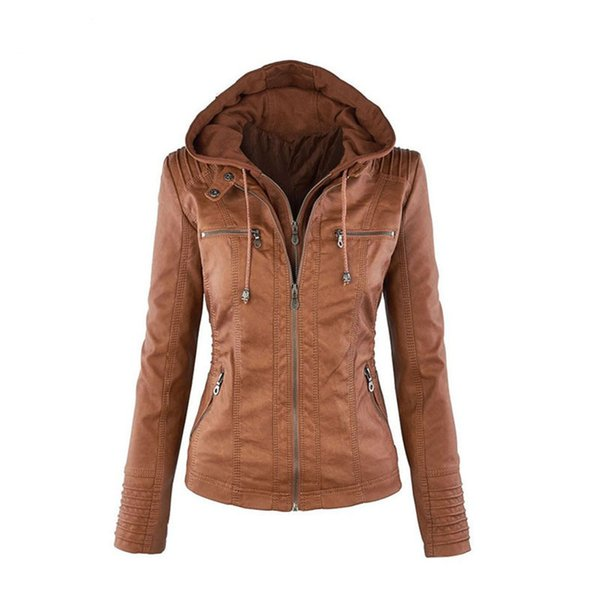 2019 de invierno chaqueta de imitación de cuero ocasional de las mujeres más el tamaño básico Coats 7XL señoras chaquetas a prueba de viento impermeable básicos abrigos femeninos