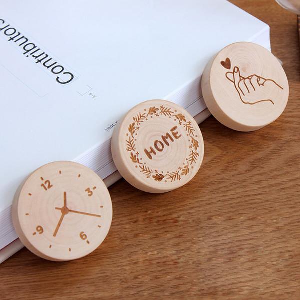 Round Shape Wooden Bottle Opener Coaster Fridge Magnet Decoration Beer Bottle Opener
