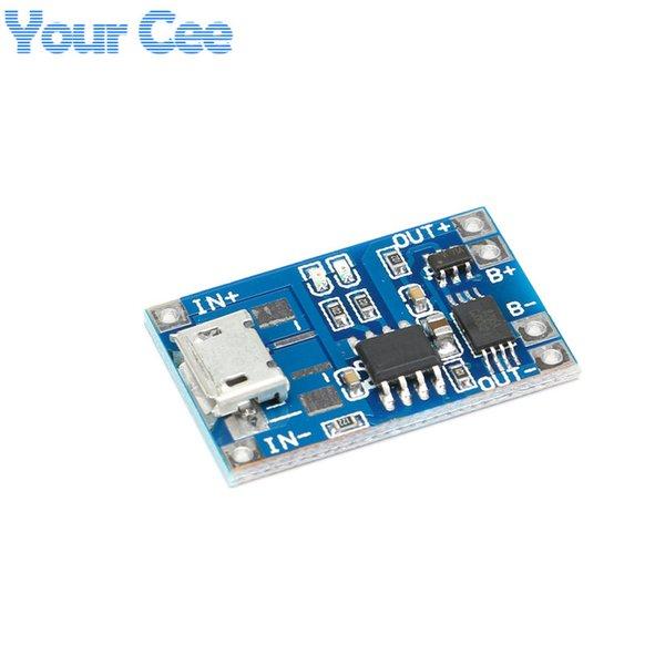 Circuitos ntegrados 5 PCS Micro USB 5V 1A 18650 TP4056 Módulo de cargador de batería de litio Tablero de carga con protección DUAL FUNCIONES 1A LI -...