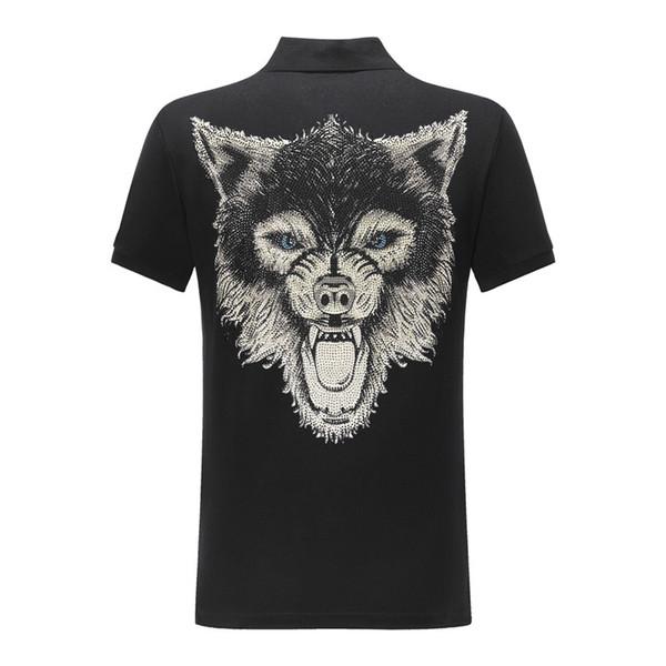 pp4 maglietta di modo di alta qualità Girocollo PP cranio Hot foratura mens designer t shirt casual polo abbigliamento donna spedizione gratuita 2c07