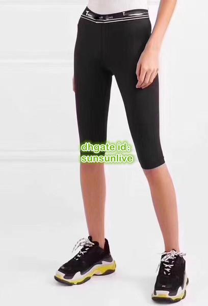 2019 High End Mulheres Moda Slim Designer De Luxo Culotte Do Vintage Calças Na Altura Do Joelho Shorts Casual Esporte Ativo Pista De Corrida Elasticidade Feminina