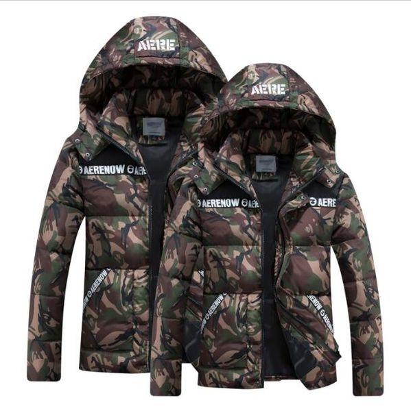 O envio gratuito de alta qualidade 2019 mulheres de inverno / padrão disruptivo dos homens com capuz quente para baixo jaqueta de algodão-acolchoado roupas de algodão amassado jaqueta 8XL