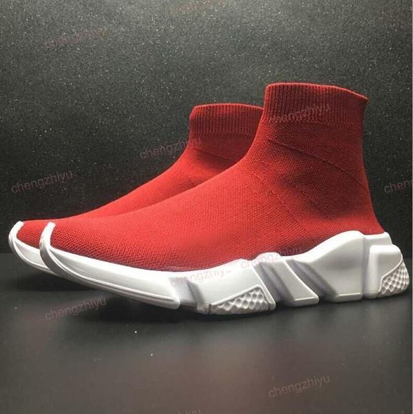 2019 erste Qualität Speed Socke hochwertige Speed Trainer Laufschuhe für Männer und Frauen Sportschuhe Speed Stretch Mid Sneakers, 5-11
