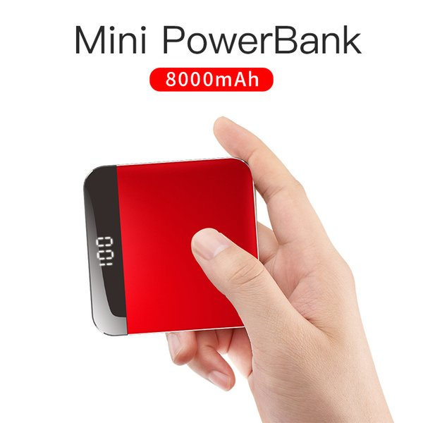 Portable Travelcool 8000mAh Built-in Mini Power Bank Cable Thin External Battery Powerbank Portable Charger for iPhone Samsung Xiaomi