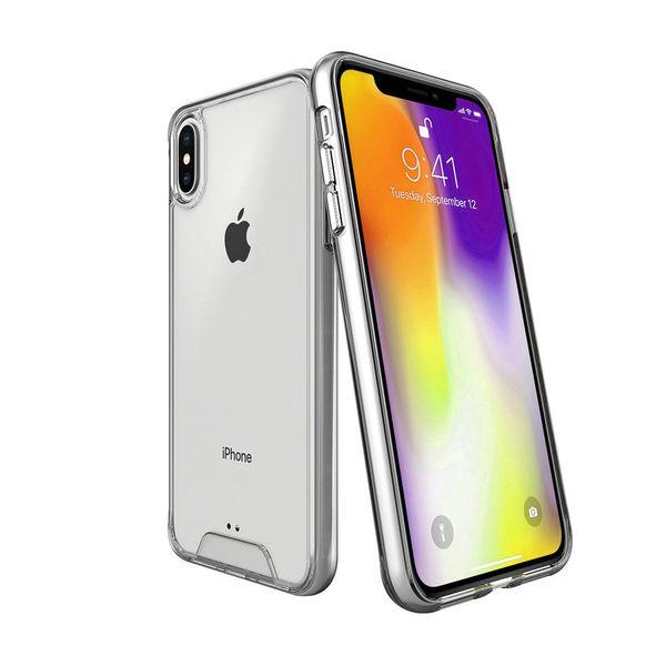 Кристально чистый чехол в твердом переплете для iPhone XS Max Xr X 6 6s 7 8 Plus Samsung Galaxy A50 A70 Мягкий силиконовый край
