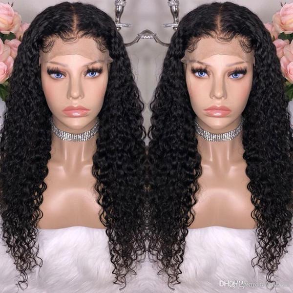 Malaio Profunda Curly Alta Temperatura Peruca Fio para As Mulheres Negras Milho Longo Encaracolado Moda Preto Africano