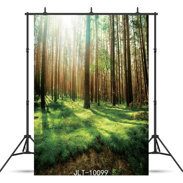 Güneş ışığı orman portre fotoğrafçılık bebek duş için Vinil fotoğraf arka plan yeni doğan zemin fotoğraf çekimi photophone