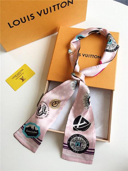 2019 новые головные ленточки шейный платок Богемия с цветочным принтом Полиэстерная ручка-сумка Лента Шарфы Обертывания