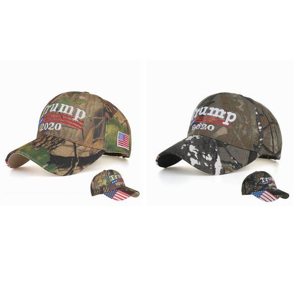 top popular New Make America Great Again 2020 Hat 3D Embroidery Letter Camo adjustable Snapback Trump USA Baseball Caps ZZA981 2021