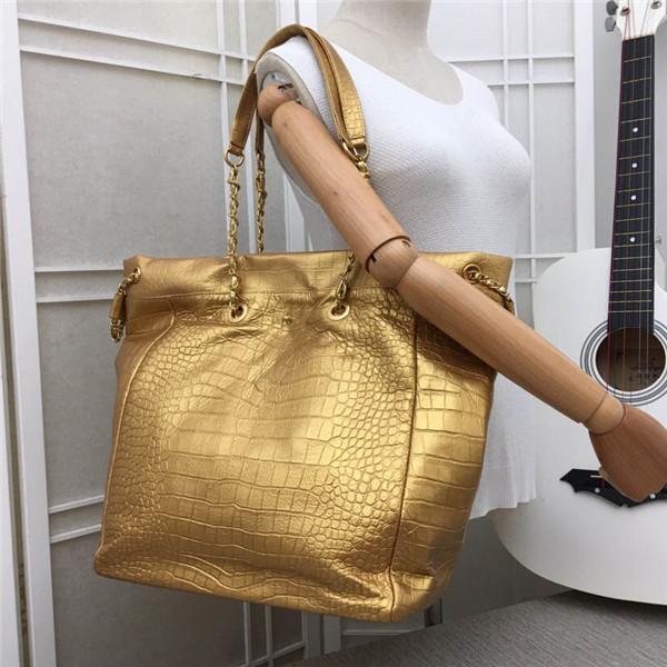 Nuovo classico grande coccodrillo di lusso modello borsa a tracolla in vera pelle borsa a catena in metallo di migliore qualità 0801 taglia 37 cm 31 cm 17 cm