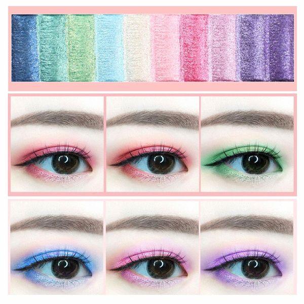 10 cores Nude Brilhante Eyeshadow Palette Maquiagem Pallete cozido suave Velvet Glitter Sombra Make Up Hot
