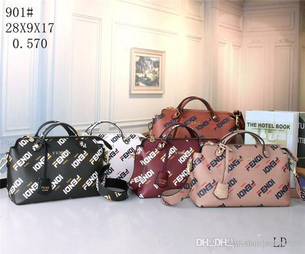 2019 estilos Bolso Bolsos de cuero de moda Bolsos de hombro de las mujeres Bolsos de señora Bolsos monedero LD901