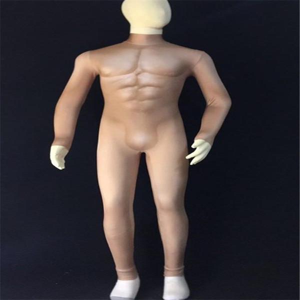 F43 Nudez Falso masculino macacão sexy dj veste discoteca bodysuit bar cantor veste equipamento de modelo de desempenho vestido de baile trajes prom roupas de baile