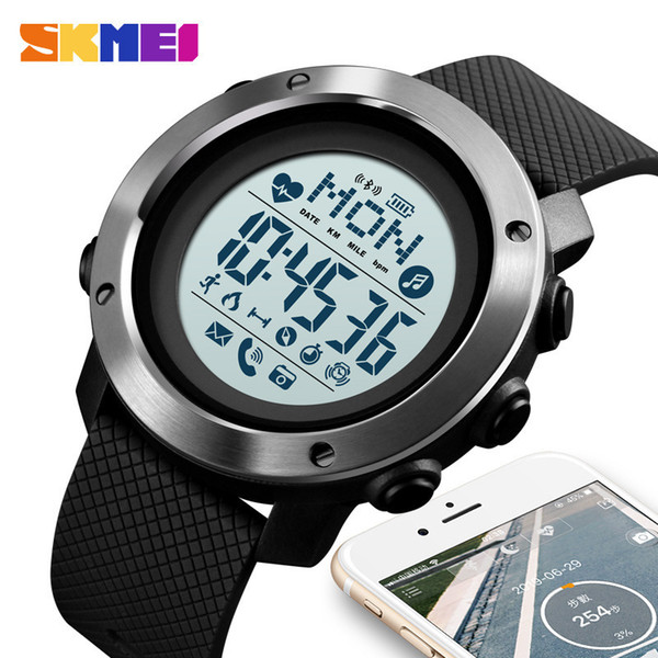 Concise Bluetooth Male Fund Intelligence Wrist Watch Waterproof Compass Adult Intelligence Surface