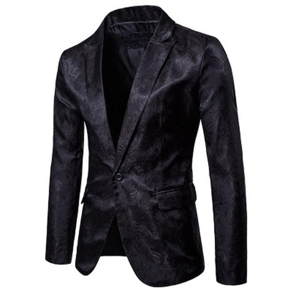 2019 hombres negro chaqueta chaqueta blanca marca Slim Fit traje de negocios de algodón masculino traje de boda