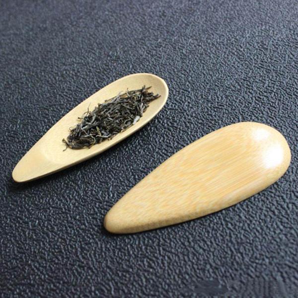 Großhandel 10x4 cm Natürliche Bambus Tee Schaufeln Mini Kurzen Griff Teelöffel Umweltfreundliche Tee Werkzeuge