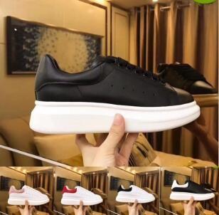 2019 новый дизайн Повседневная обувь женщины мужчины мужчины ежедневный образ жизни скейтбординг обуви роскошные модные платформы ходьба тренеры Черный блеск Shinny