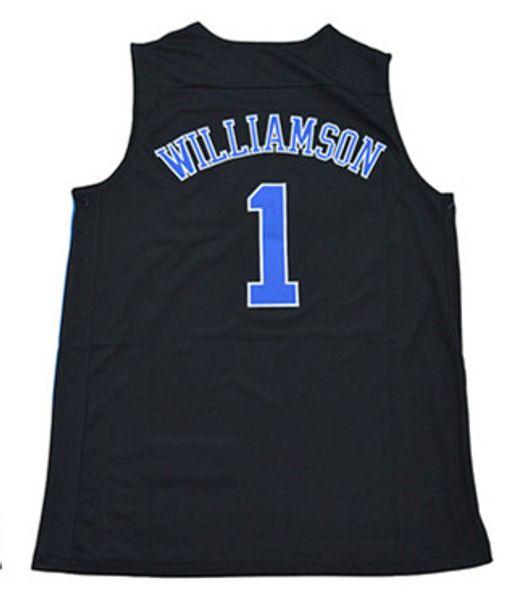 Broderie d'hommes de haute qualité 1 Zion Williamson College Basketball Jerseys