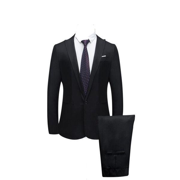 FREE OSTRICH fashion Men's jacket Slim Button Suit Pure Color Blazer Men Host Show Jacket Coat Slim Fit Suit Costume new