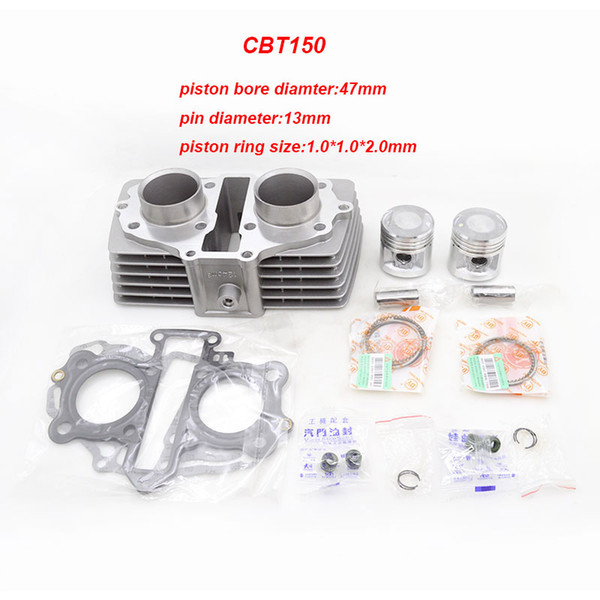 best selling Motorcycle Cylinder Kit For Honda CB125 TWIN CA125 Rebel CB125T CBT125 CM125 244FMI 247FMJ 125cc Upgrade 150cc Modification