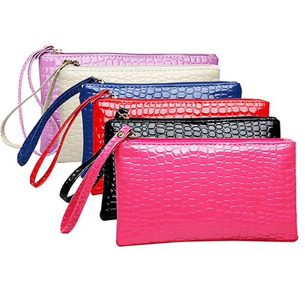 Women's Coin Purse Clutch Wristlet PU Leather Handbags Wallet Purse Card Phone Holder Makeup Bag Clutch Small Handbag