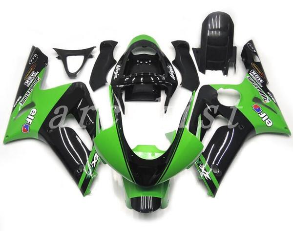 New Injection Mold ABS Fairing kits fit for 03 04 ZX 6R 636 2003 2004 kawasaki Ninja ZX6R ZX636 fairings set Free custom black green elf