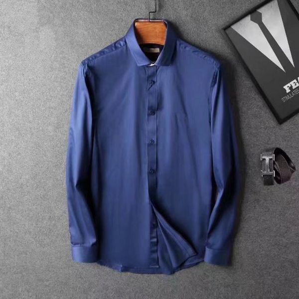 2019 Italy brand ashion design luxury men's Casual long sleeve shirt fashion designer camisa masculina social embroidery shirt shirts
