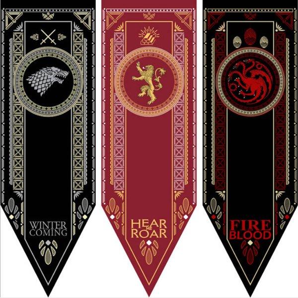 Wohnkultur Game Of Thrones Banner Flagge Stark Tully Targaryen Lannister Baratheon Martell Bolton Flagge - 48x150cm