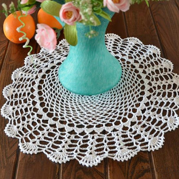 Lot of 2 pcs, 38 CM Round centerpieces for wedding, hand crochet coaster, Round doily wedding, crochet placemats for home decor
