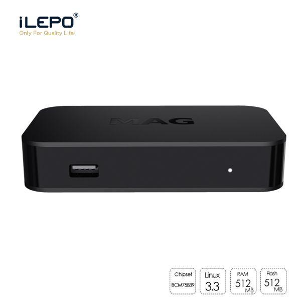 Il nuovissimo box Mag MAG322 tv box per iptv con Linux 3.3 chipset BCM75839 512 MB di RAM HEVC H.265 IPTV Box Smart Media Player