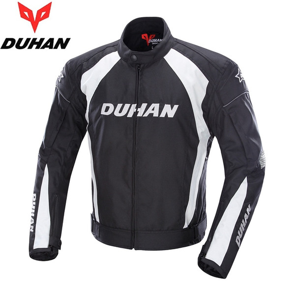 Ücretsiz kargo 1 adet Erkek Rüzgar Geçirmez Sürme Spor Oxford Ceket Giyim Motocross OffRoad Yarış Motosiklet Ceket Ile 5 adet pedleri