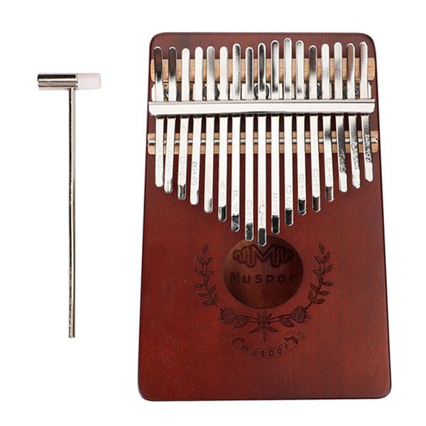 top popular 17 Key Kalimba Thumb Piano Finger Mbira Solid Musical Instrument 2021