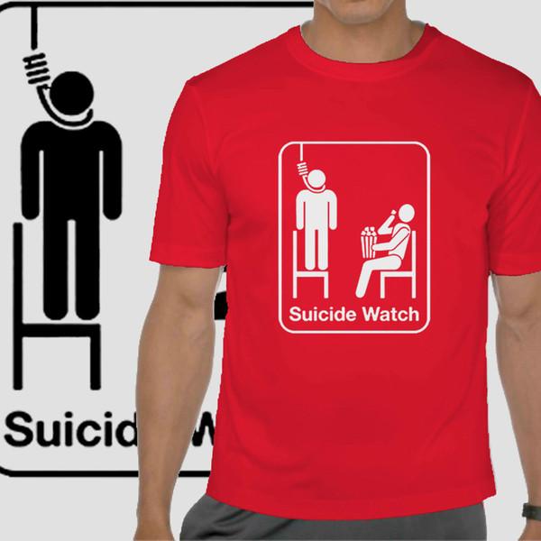 Camiseta divertida lema Camiseta de suicidio Camiseta para hombre humor T festival de playa camiseta