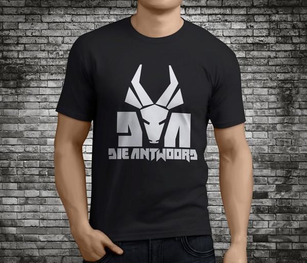 Nouveau Populaire DIE ANTWOORD Rap Hip Hop Noir T-Shirt Taille S-3XLFunny livraison gratuite Unisexe Casual Tshirt