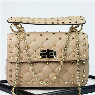 Luxus Handtaschen Frauen Taschen Designer New Rivet Clutch Einkaufstasche Schaffell Berühmte Marken Ketten Umhängetaschen Bolsa Feminina Herbst