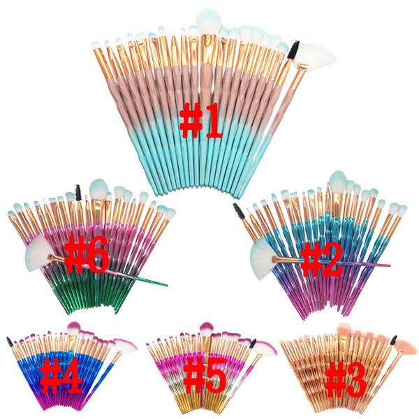 Elmas Makyaj Fırçalar 20 adet Pudra Fondöten Kapatıcı Allık Göz Farı Dudak Fırçası Kozmetik Makyaj Fırçalar Seti Güzellik Araçları