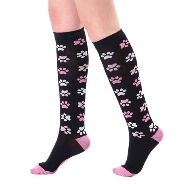 Long Tube Compression Socks Damen Herren Bunt bedruckte Quick Dry Strumpfwaren Outdoor Cycling Running Sport Socken