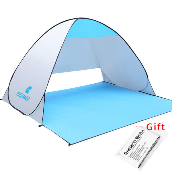 best selling KEUMER Beach Tent Pop Up Open Camping Tent Fishing Hiking Outdoor Automatic Instant Portable (120+60)*150*100cm Anti UV Shelter