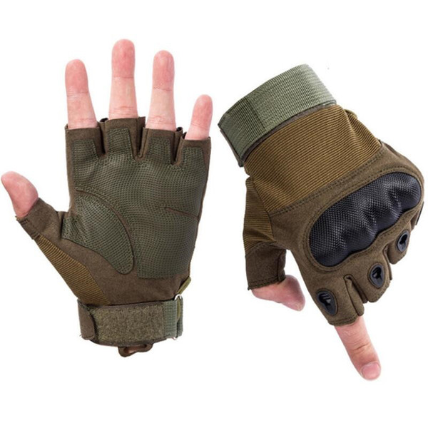 Outdoor Sport Tactical Gloves Shooting Combat Fitness Anti-Skid Rubber Hard Knuckle Full Finger Gloves Women Men
