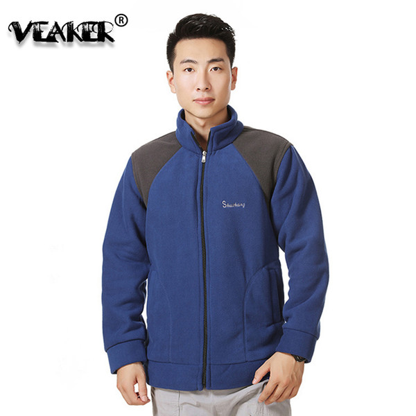 2018 Winter Mens Jackets Sportswear Warm Army Green Polar Fleece Jacket Coat Male Casual Zipper Jackets Coat Outerwear Size 4XL