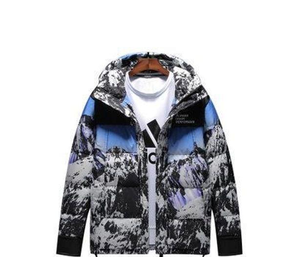 Мужская свободная хлопчатобумажная куртка оригинальный бренд tide snow mountain пуховик Европа и Америка с капюшоном мягкая хлопчатобумажная одежда