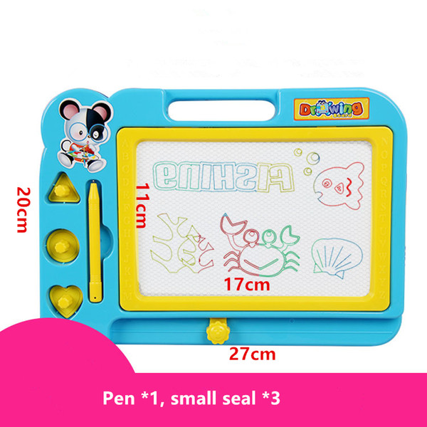 top popular Wholesale educational early childhood toys children drawing board baby children color painting graffiti magnetic drawing board WordPad 2019